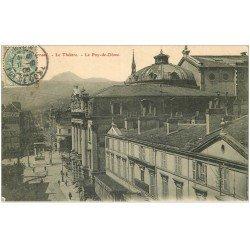 carte postale ancienne 63 CLERMONT-FERRAND. Le Théâtre 1906