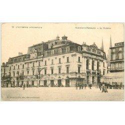 carte postale ancienne 63 CLERMONT-FERRAND. Le Théâtre vers 1900