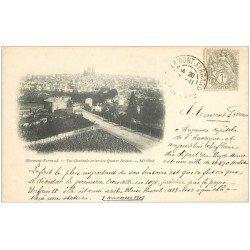carte postale ancienne 63 CLERMONT-FERRAND. Les Quatre Routes 1903