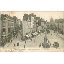 carte postale ancienne 63 CLERMONT-FERRAND. Rue 11 Novembre et Avenue des Etats-Unis 1921