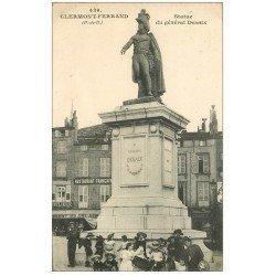 carte postale ancienne 63 CLERMONT-FERRAND. Statue Desaix. Tampon Militaire