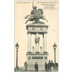 carte postale ancienne 63 CLERMONT-FERRAND. Statue Vercingétorix 1912