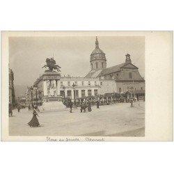 carte postale ancienne 63 CLERMONT-FERRAND. Tramway petit train Place de Jaude