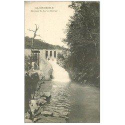 carte postale ancienne 63 LA BOURBOULE. Déversoir du Lac au Barrage
