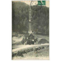 carte postale ancienne 63 LA BOURBOULE. Funiculaire de Charlanne et Vaches vers 1911
