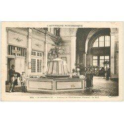 carte postale ancienne 63 LA BOURBOULE. Hall Etablissement Thermal 1931