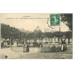carte postale ancienne 63 LA BOURBOULE. Le Bassin vers 1911 Etablissement Thermal