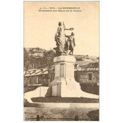 carte postale ancienne 63 LA BOURBOULE. Monument aux Héros de la Guerre