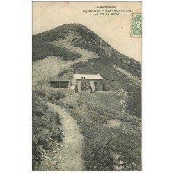 carte postale ancienne 63 LE MONT DORE. Le Pic de Sancy 1907 animé