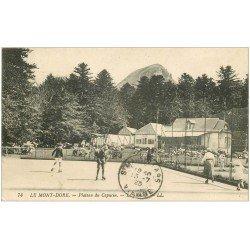 carte postale ancienne 63 LE MONT DORE. Le Skating Patinoire du Capucin 1923. Sports