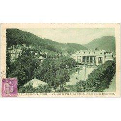 carte postale ancienne 63 LE MONT DORE. Lot de 8 Cpa. Parc, Casino, Villas Thévenin, Chaîne Sancy, Hôtel Palace, ....