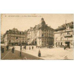 carte postale ancienne 63 LE MONT DORE. Place Michel-Bertrand
