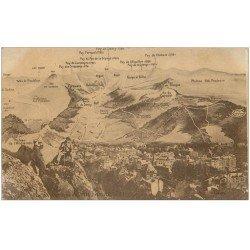 carte postale ancienne 63 LE MONT DORE. Vue panoramique avec Alpinistes