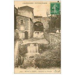 carte postale ancienne 63 ROYAT. Cascade de la Tiretaine 1922