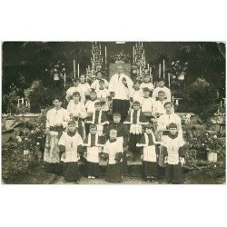 carte postale ancienne 63 ROYAT. Franciscaines Fête Dieu 4 juin 1931. Carte Photo rare