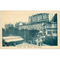 carte postale ancienne 63 ROYAT. Restaurant Cinéma Place Allard