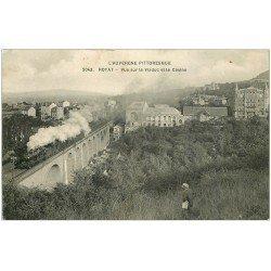 carte postale ancienne 63 ROYAT. Train sur le Viaduc 1914
