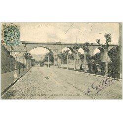 carte postale ancienne 63 ROYAT. Viaduc Avenue de Royat 1904