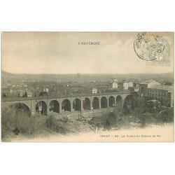 carte postale ancienne 63 ROYAT. Viaduc du Chemin de Fer 1903