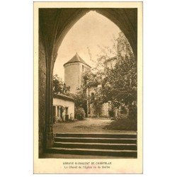 carte postale ancienne 03 ABBAYE SAINT-VINCENT DE CHANTELLE. Chevet de l'Eglise