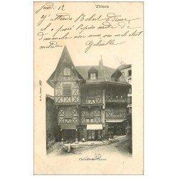 carte postale ancienne 63 THIERS. Château du Piroux 1905