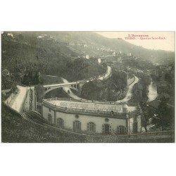 carte postale ancienne 63 THIERS. Le Pont Quartier Saint-Roch 1914