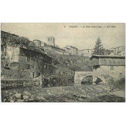 carte postale ancienne 63 THIERS. Le Pont Saint-Jean