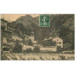 carte postale ancienne 63 THIERS. Vallée de Servance et Rochers de Margeride 1908