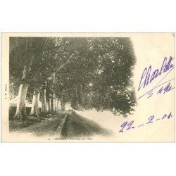 carte postale ancienne 34 BEZIERS. Bords Orb 1904