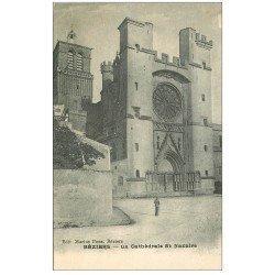 carte postale ancienne 34 BEZIERS. Cathédrale