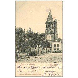 carte postale ancienne 34 BEZIERS. Eglise de la Madeleine 1904