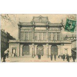 """carte postale ancienne 34 BEZIERS. Le Théâtre 1908 """""""" Madame sans gêne """""""""""