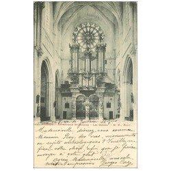 carte postale ancienne 34 BEZIERS. Les Orgues Cathédrale Saint-Nazaire 1903