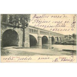 carte postale ancienne 34 BEZIERS. Pont-Canal 1903