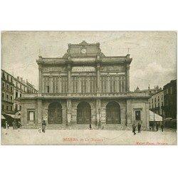 carte postale ancienne 34 BEZIERS. Théâtre 1917