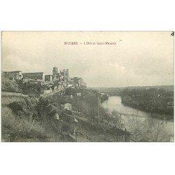 carte postale ancienne 34 BEZIERS. Vallée Orb Saint-Nazaire