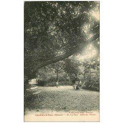 carte postale ancienne 34 LAMALOU-LE-HAUT. Allées des Chênes Parc