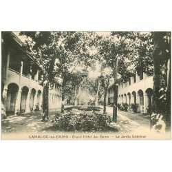 carte postale ancienne 34 LAMALOU-LES-BAINS. Jardin Grand Hôtel 1931