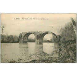 carte postale ancienne 34 LUNEL. Pont sur Vidourie 1915