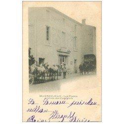 carte postale ancienne 34 MAUREILHAN. Les Postes arrivée du Courrier en diligence 1903
