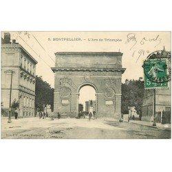 carte postale ancienne 34 MONTPELLIER. Arc Triomphe 1910