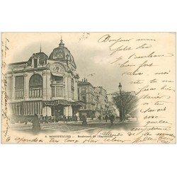 carte postale ancienne 34 MONTPELLIER. Boulevard de l'Esplanade 1902