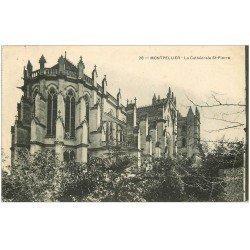 carte postale ancienne 34 MONTPELLIER. Cathédrale 1910