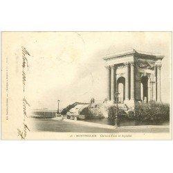 carte postale ancienne 34 MONTPELLIER. Château d'Eau 1901 Aqueduc