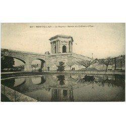 carte postale ancienne 34 MONTPELLIER. Château d'Eau Bassin 1923