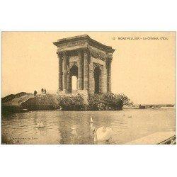 carte postale ancienne 34 MONTPELLIER. Château d'Eau Cygnes