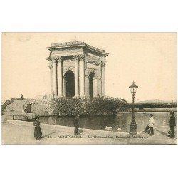 carte postale ancienne 34 MONTPELLIER. Château d'Eau Promenade du Peyrou