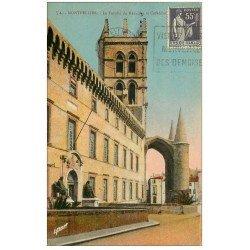 carte postale ancienne 34 MONTPELLIER. Faculté Médecine Cathédrale couleur