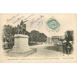carte postale ancienne 34 MONTPELLIER. Jardins Peyrou 1903