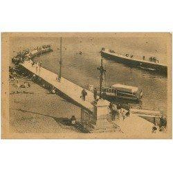 carte postale ancienne 34 PALAVAS-LES-FLOTS. Les Jetées sépia